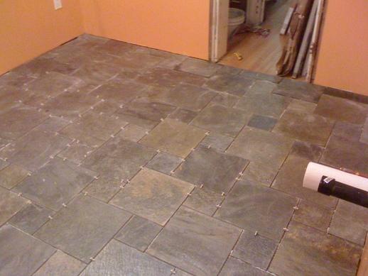 Finished installing slate tiles