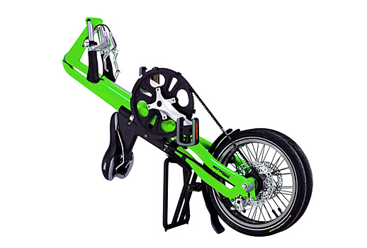 Lime Streen Strida 5.0 - folded