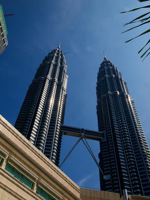 Kuala Lumpur Petronas Towers in Daylight - June 7, 2011