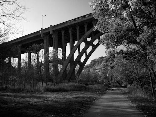 Bridge over Don River - November 2, 2011