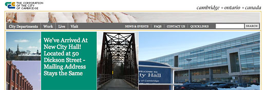 City of Cambridge website