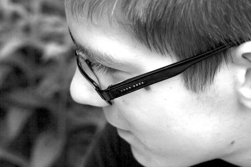 A boy and his glasses - May 29, 2012