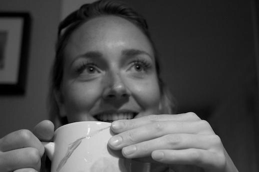 Miranda and tea - May 29, 2012